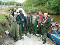 Padraig & anglers get ready to fish